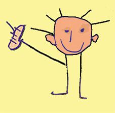 """Witzige Zeichnung zum Thema """"Fortbildungen zur Frühbehandlung von Sprach-und Sprechstörungen"""""""